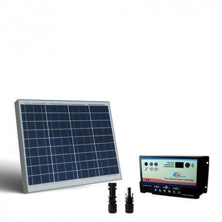 Kit solar Wohnmobil 50W 12V, Photovoltaik Regler für zwei Batterien