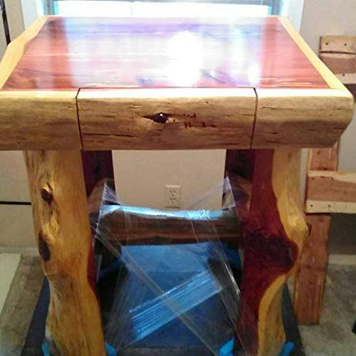 Handmade Cedar log frame End Table with drawer