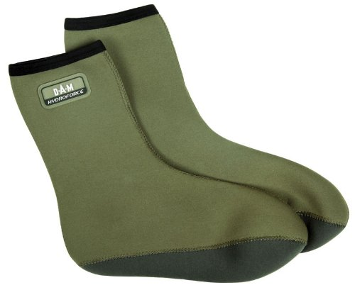 DAM Hydroforce Neoprene Socks, Sz. 44, Green, Comfortable And Warm, 8718002