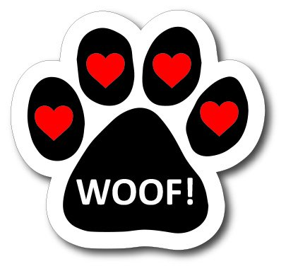 Magnet Me Up Woof Pawprint Car Magnet Paw Print Auto Truck Decal Magnet P-28