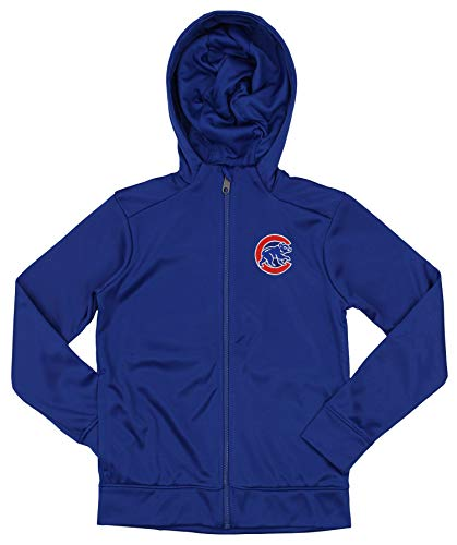 Outerstuff MLB Cubs Boys 8-20 Performance Full Zip Hoody 10/12-M