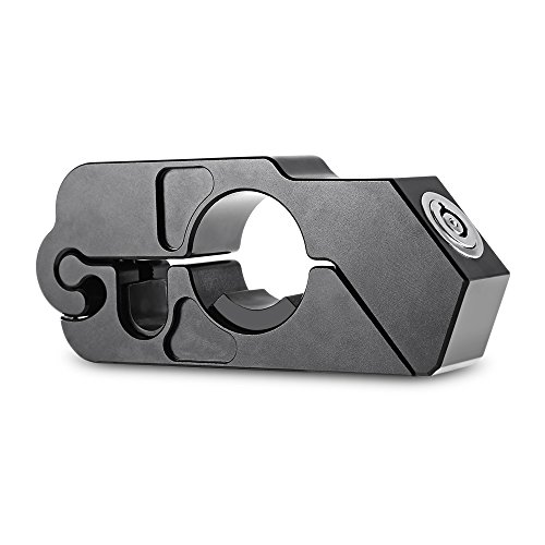 OLSUS Durable Aluminium Alloy Motorcycle Scooter Handle Lock anti-thieve in Black by OLSUS