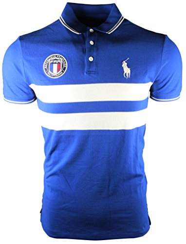 Polo Ralph Lauren Men's Custom Slim Fit Country Polo Shirt (M, France Blue)
