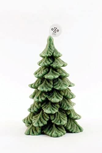 amazon com  small dark green christmas tree scented candle