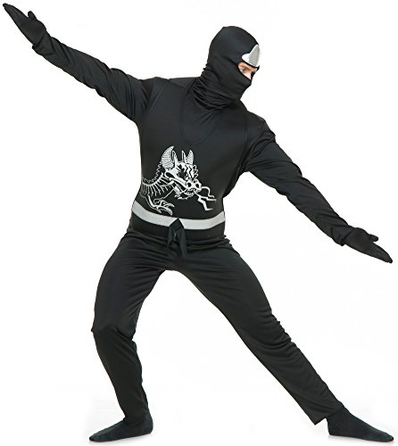 Adults X-Small 34-36 Men's Black Ninja Avenger Series 2 Martial Arts Costume