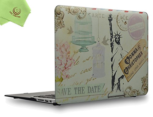 UESWILL Painting Statue of Liberty Pattern Painting Hard Shell Case Cover for MacBook Air 13