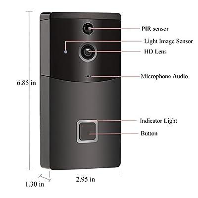 WiFi Video Doorbell, Wireless Smart Doorbell Camera