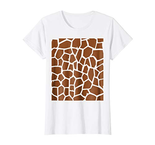 Womens Giraffe Print - Easy Halloween Costume Idea - Tee Shirt Large White