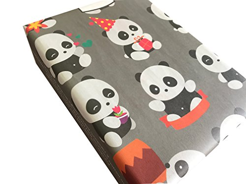 eVincE - Gift Wrapping Paper 5 Wrappers with THE MOST LOVED AND CUTE PANDA FACTS, 50 X 70 cms