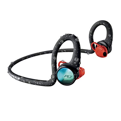 Plantronics BackBeat FIT 2100 Wireless Headphones, Sweatproof and Waterproof in Ear Workout Headphones, Black (Plantronics Backbeat Fit Wireless Bluetooth Headphones Review)