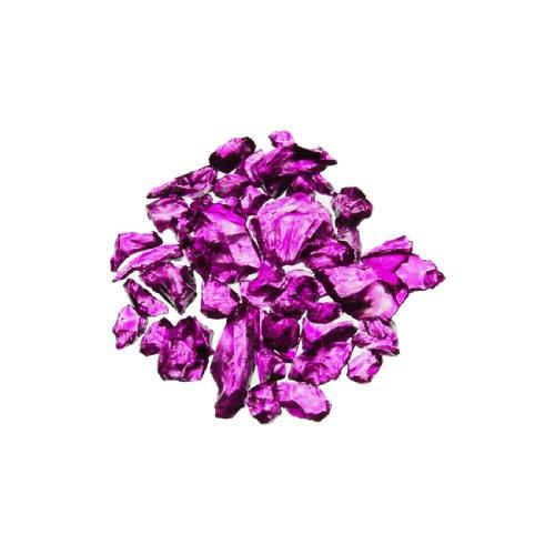 CYS Vase Filler Colored Crushed Glass Table Scatters, Violet, 1 lb per bag (16 bags), D-0.2''-0.3''