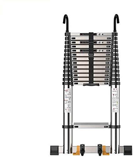 はしご アルミ台 伸縮はしご エンジニアリング伸縮式はしご、家庭用6sizesためのフック多目的折りたたみ付き折りたたみアルミ拡張ラダー 便座とフレーム (Size, 4.7m),3.5m