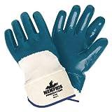 Chemical Resistant Gloves, M, 11''L, Nitrile, 12 pk.