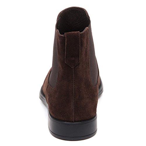 Tod's Suede E7898 Brown Shoe Marrone Boot Beatles Man Uomo Scuro Scarpe Dark YF7YrA