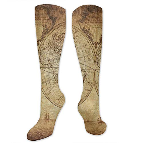 Socks Antique Old World Map Art Custom Personalized Womens Stocking Party Sock Clearance For Girls