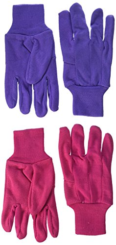 Hob Nob Dots (Wells Lamont Work Gloves with Hob Nob Dots, Women's, Jersey Basic, Wearpower, 2 Pack (303N))