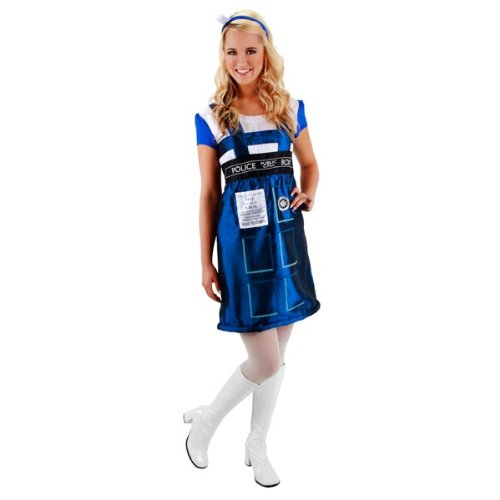 DOCTOR WHO TARDIS DRESS LG XL (Halloween Costumes Dr Who)