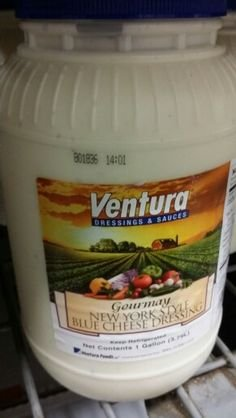 Ventura New York Style Blue Cheese Dressing 1 Gal (2 Pack) by Ventura