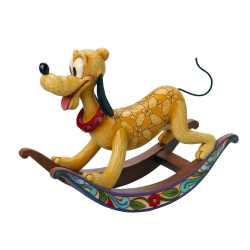 Disney Traditions designed by Jim Shore for Enesco Rocking Horse Pluto Figurine 9 IN