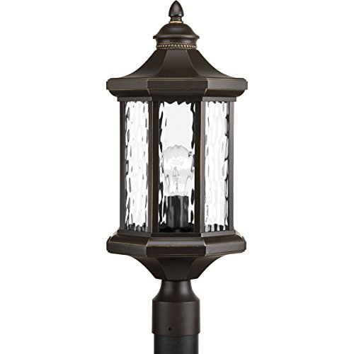 Progress Lighting P6429-20 Traditional/Classic 1-100W Med Post Lantern, Antique (Antique Bronze Outdoor Post Light)