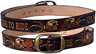 product image for Hot Leathers 10955 Brown Size 40 Leather Live to Ride Embossed Belt