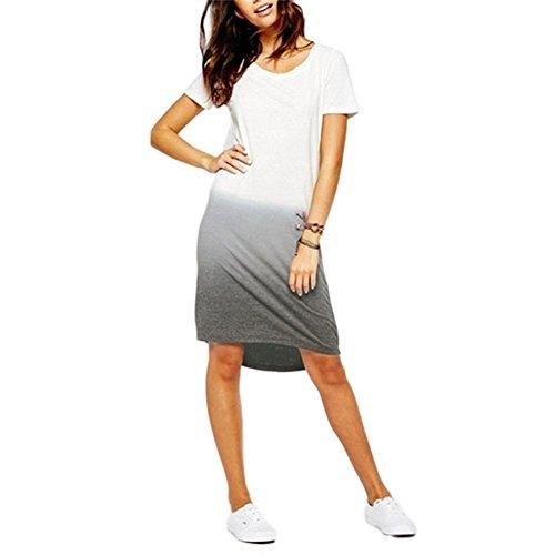 Soly Tech Women Casual T Shirt Dress Short Sleeve O-neck Loose Plus Size Dresses (T Shirt Romper For Women)