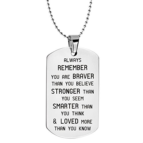 Paris Selection Always Remember You Are Braver Than You Believe Inspirational Jewelry (Sayings Jewelry)