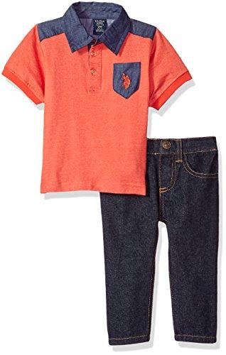 U.S. Polo Assn. Baby Boys Shirt and Pant Set