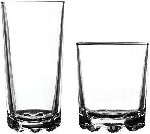 Ravenhead 12-Piece Essential Glassware Hobnobs Drinking Glass Set, Clear ()
