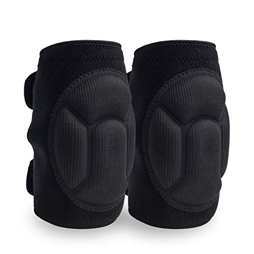 JYSW Knee Pads Comfortable Non-Slip, Thick Extra Foam Cushion for Scrubbing Floors, Gardening, Yoga & Construction, Soft Inner Liner, Strong Double Straps and Adjustable Easily