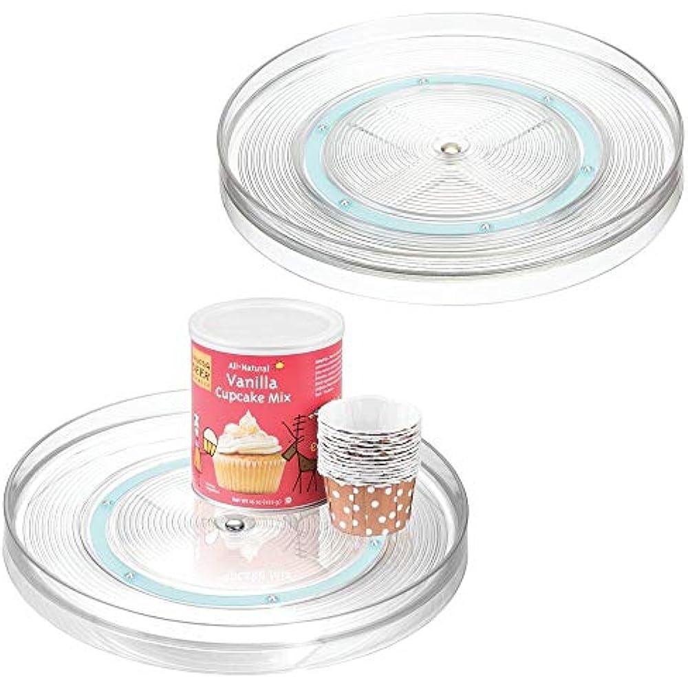 - MDesign Lazy Susan Plastic Turntable Food Storage