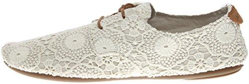 Sanuk Casual Chaussures Femmes Bianca Crochet En Cuir En Caoutchouc 1015892 Blanc / Flocons Davoine