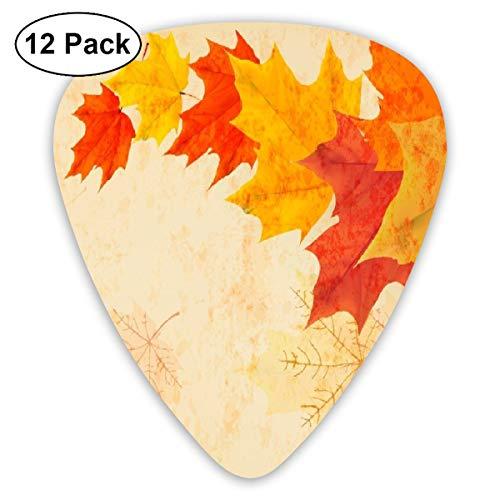 V5DGFJH.B Fall Yellow Leaf Classic Guitar Pick Player's Pack for Electric Guitar,Acoustic Guitar,Mandolin,Guitar Bass
