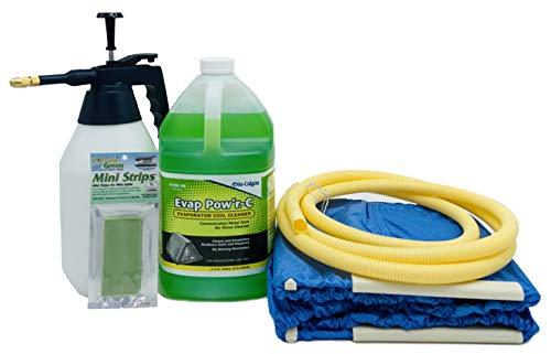 Complete Mini Split Cleaning Kit Featuring Nu-Calgon Evap Pow'r C Coil Cleaner & CleanAir Odour Treatment Tab