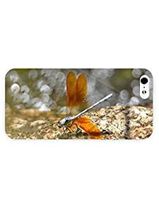 3d Full Wrap Case for iPhone 5/5s Animal Dragonfly On The Rock