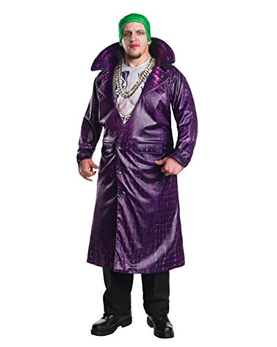Plus Size Villain Costumes (Rubie's Men's Suicide Squad Plus Deluxe Joker Costume, Multi, One Size)