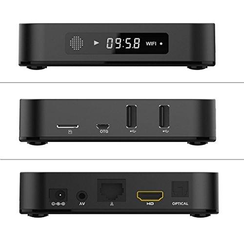 Hongyu T95M56 2G/8G Android 6.0 Smart Tv Box Amlogic S905X Quad Core with 2.4G Wi-Fi 100M Ethernet Lan 4K Hdmi 3D Ott Media Player