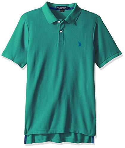 Jade Pique Polo Shirt - U.S. Polo Assn. Men's Ultimate Pique, Island Jade, M
