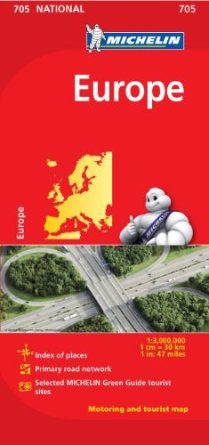Michelin Europe Map 705  Maps Country  Michelin