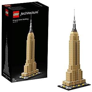 LEGO®-Architecture L'Empire State Building 16 Ans et Plus, Jeu à Construire, 1767 Pièces 21046