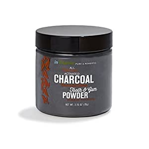 Natural Whitening Tooth & Gum Powder with Activated Charcoal, 2.75oz - Cinnamint Flavor