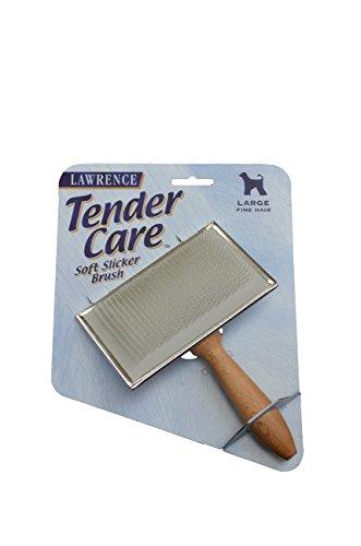 Medium Soft Slicker (Lawrence Tender Care Soft Slicker Brush - Large Dogs w/ Fine Hair)
