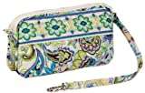 Maria Green Flower-designed Travel Wrist-let Wallet - 100% Cotton Zipped Purse Phone Case