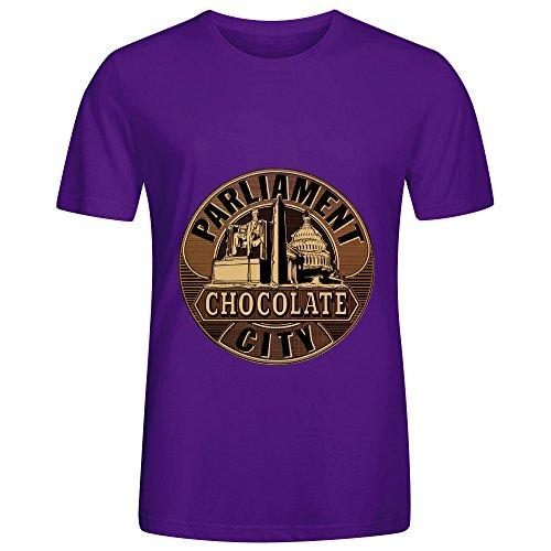 Parliament Chocolate City Electronica Men Round Neck Customized Shirts Purple