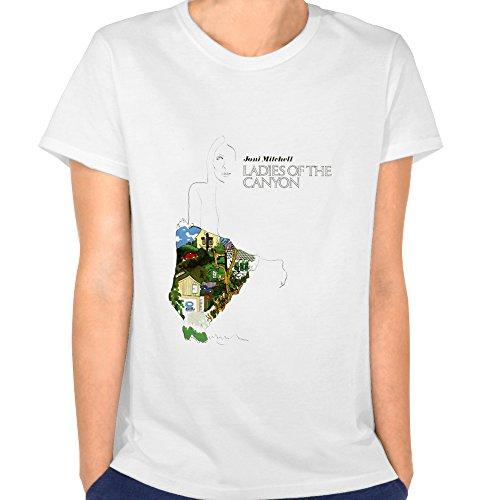 Loly Brand Women's Joni Mitchell Singer Ladies Of The Canyon Funny Short-Sleeve T-shirt (Joni Mitchell T-shirts)