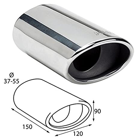 ER60026 - Acero inoxidable de tubo de escape del tubo de escape de para atornillar Embellecedor de tubos de escape universales: Amazon.es: Coche y moto
