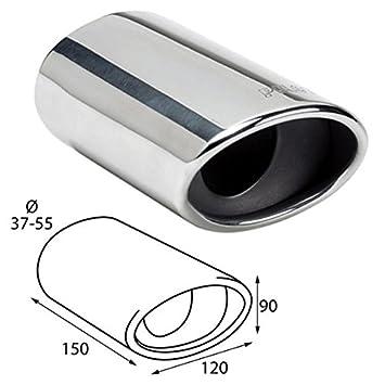 ER60026 - Acero inoxidable de tubo de escape del tubo de escape de para atornillar Embellecedor de tubos de escape universales