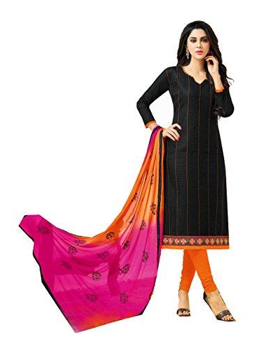 Indian Women Designer Partywear Ethnic Traditonal Black Salwar Kameez by Da Facioun