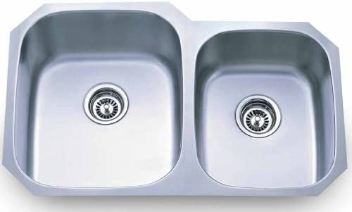 Dowell Undermount Double Bowl 16 Gauge Kitchen Stainless Steel Sinks 6001 3220T