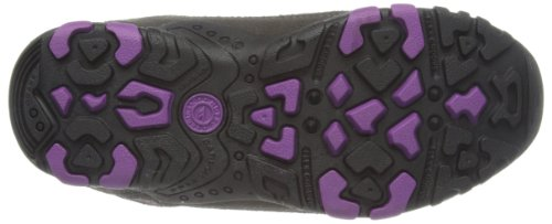 Hi-Tec Windermere Low WP W (Co) - Botas de senderismo de cuero mujer Gris (Charcoal/Purple)